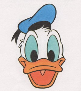 Cartoon duck head