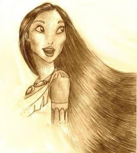 Pocahontas rajz változat