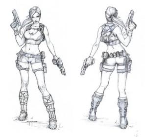 Tomb Raider videojáték karaktertervezés