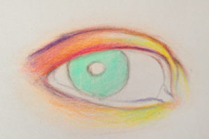Szemrajzolás_színesceruza
