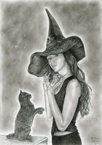 Halloween-i boszorkány