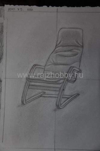 Negatívteres székrajz